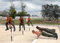 La preparación física es esencial para los reclutas durante la previa, el 15 de Febrero de 2011, La Habana, Cuba. Foto: Calixto N. Llanes/Juventud Rebelde (CUBA)